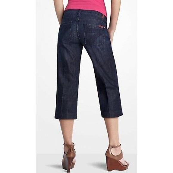 7 For All Mankind Denim - 7 For All Mankind DOJO Darkwash Capri Denim Jeans